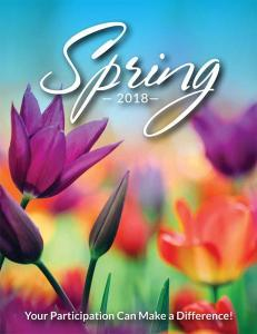 Simply Spring Fundraising Brochure
