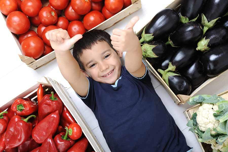 bigstock Harvest kid vegetables 26668151