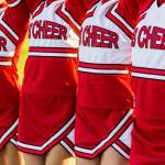 cheerleaders in uniforms