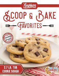 $16 cookie dough fundraiser brochure