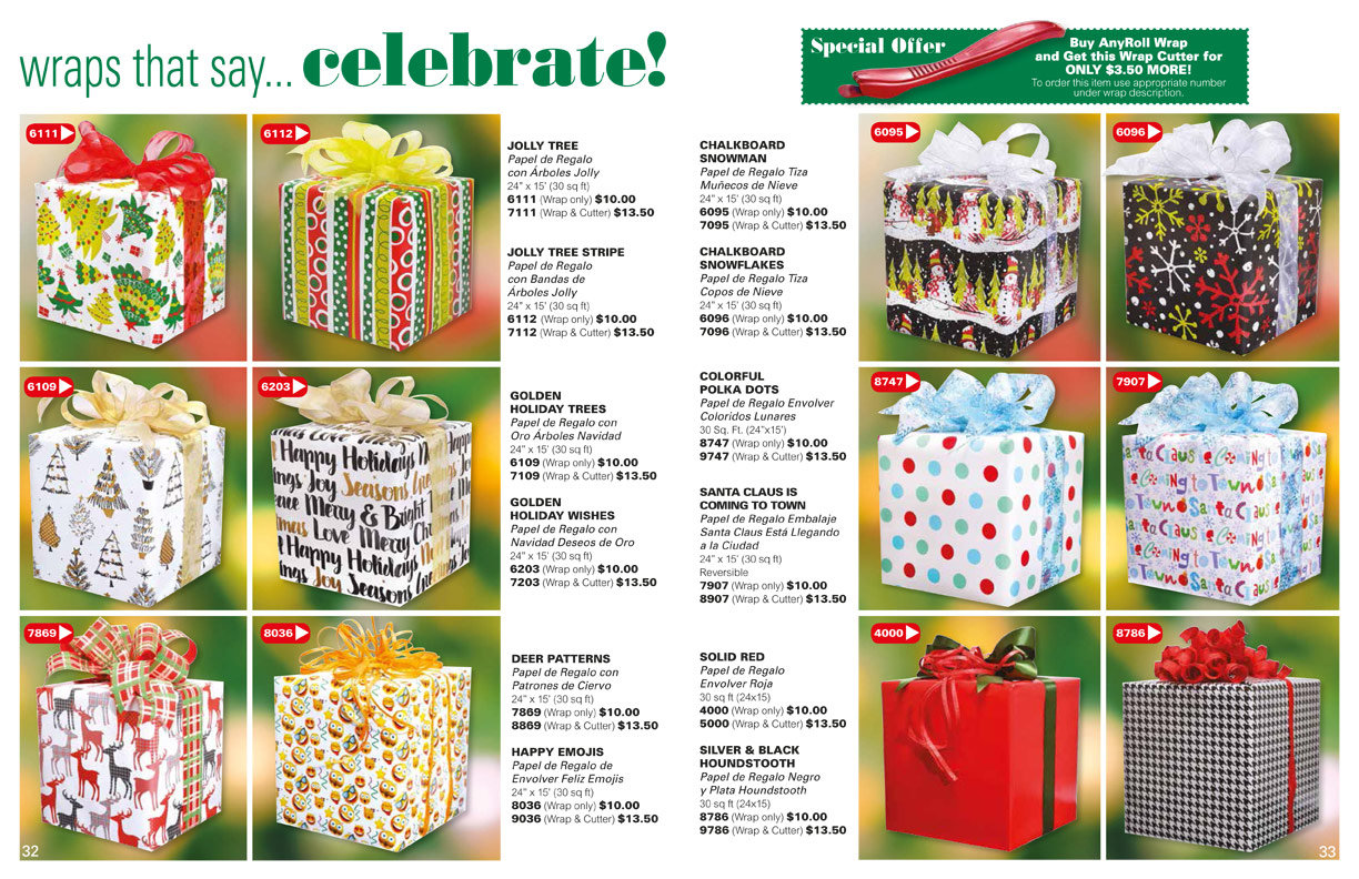 Holiday Collection Fundraising - Gift Wrap, gifts and more.