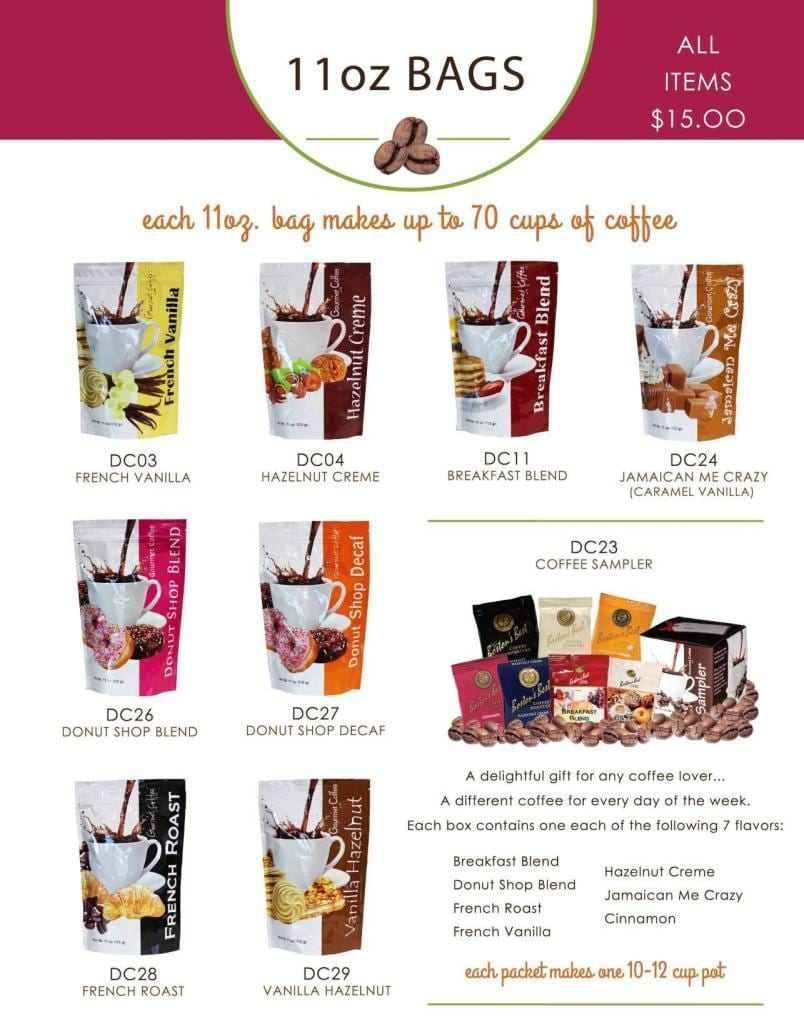 coffee fundraisers - raise funds easily selling gourmet coffee