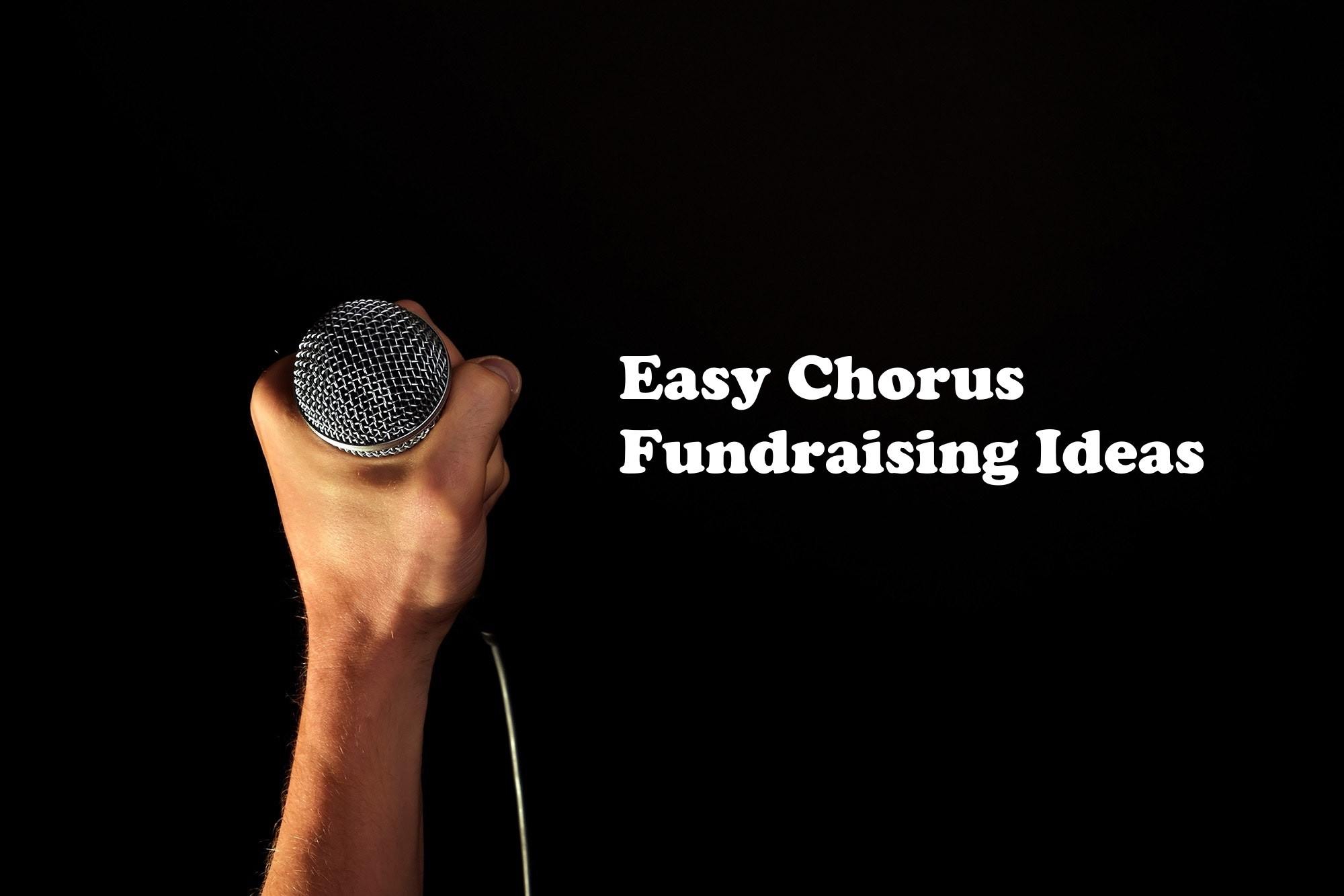 school chorus fundraising ideas