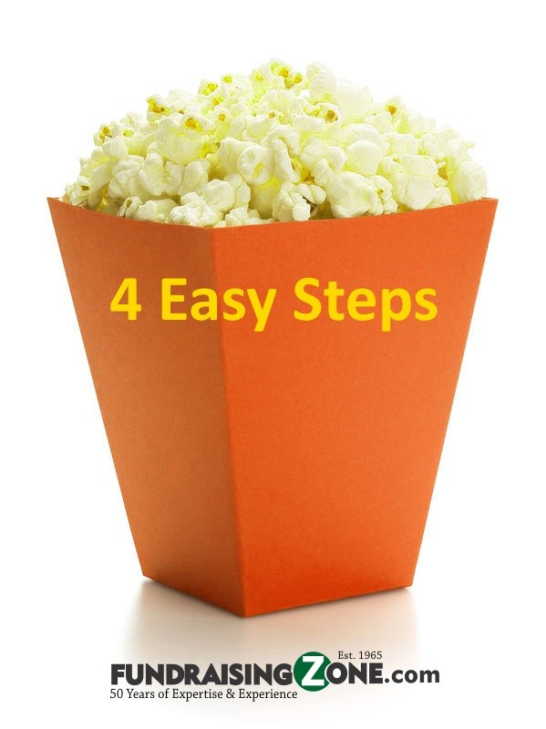 4 easy steps to popcorn fundraising with Fundraisingzone.com