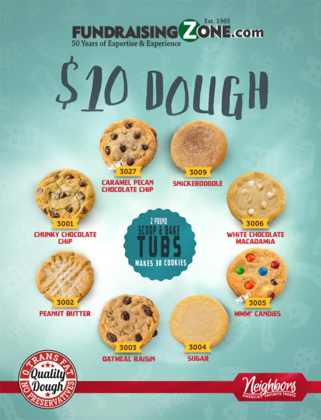 $10 Cookie Dough Fundraising Catalog