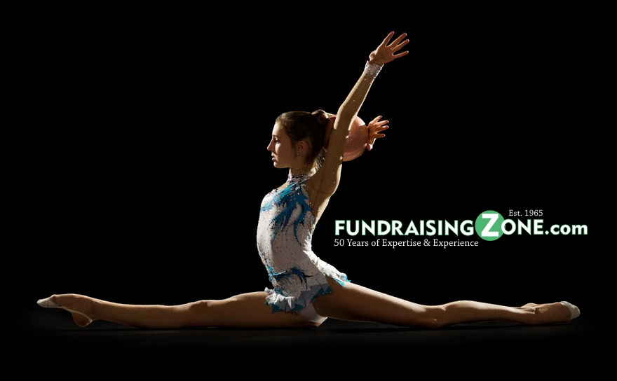 Learn fundraising ideas for gymnastics teams. Young Girl doing a split 1