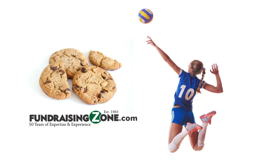 easy volleyball fundraising ideas cookie dough