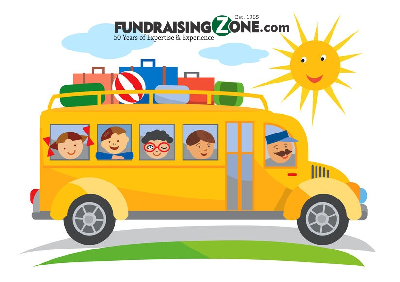 school trip fundraising ideas helped pay for this trip. Kids on a yellow school bus